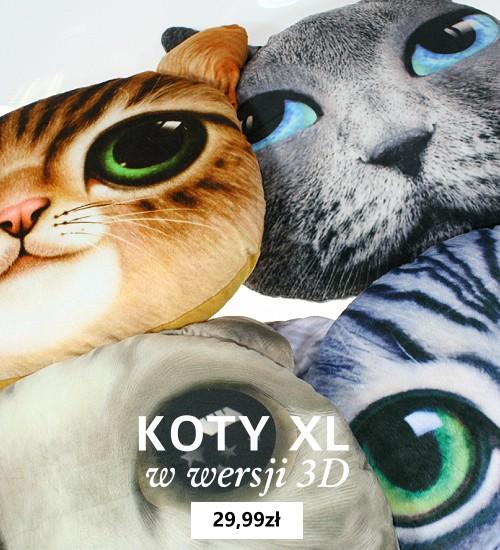 Poduszki 3D z kotami