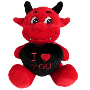 Diabełek z sercem I Love You - 23cm