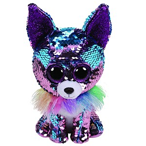 Pies Chihuahua Yappy Pupilki Flippables TY - 15cm