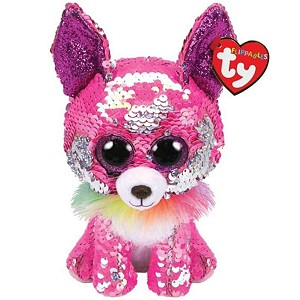 Pies Chihuahua Charmed Pupilki Flippables TY - 15cm
