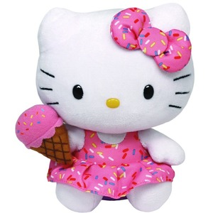 Kotek Hello Kitty Lic Ice Cream TY - 15cm